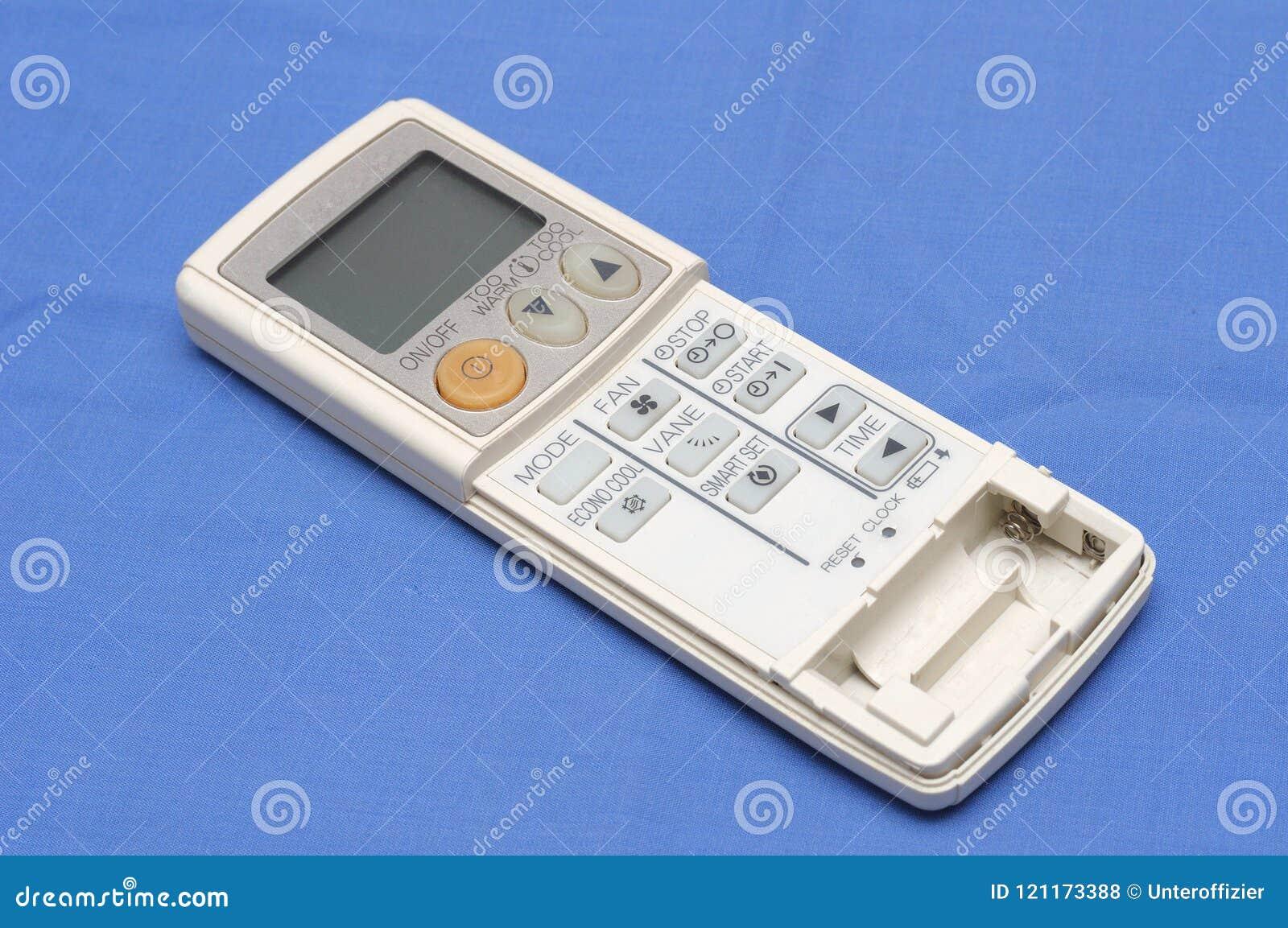 Una consola de mano del control remoto para las unidades de aire acondicionado