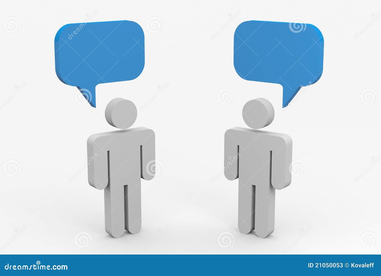 Una conversazione delle due genti.