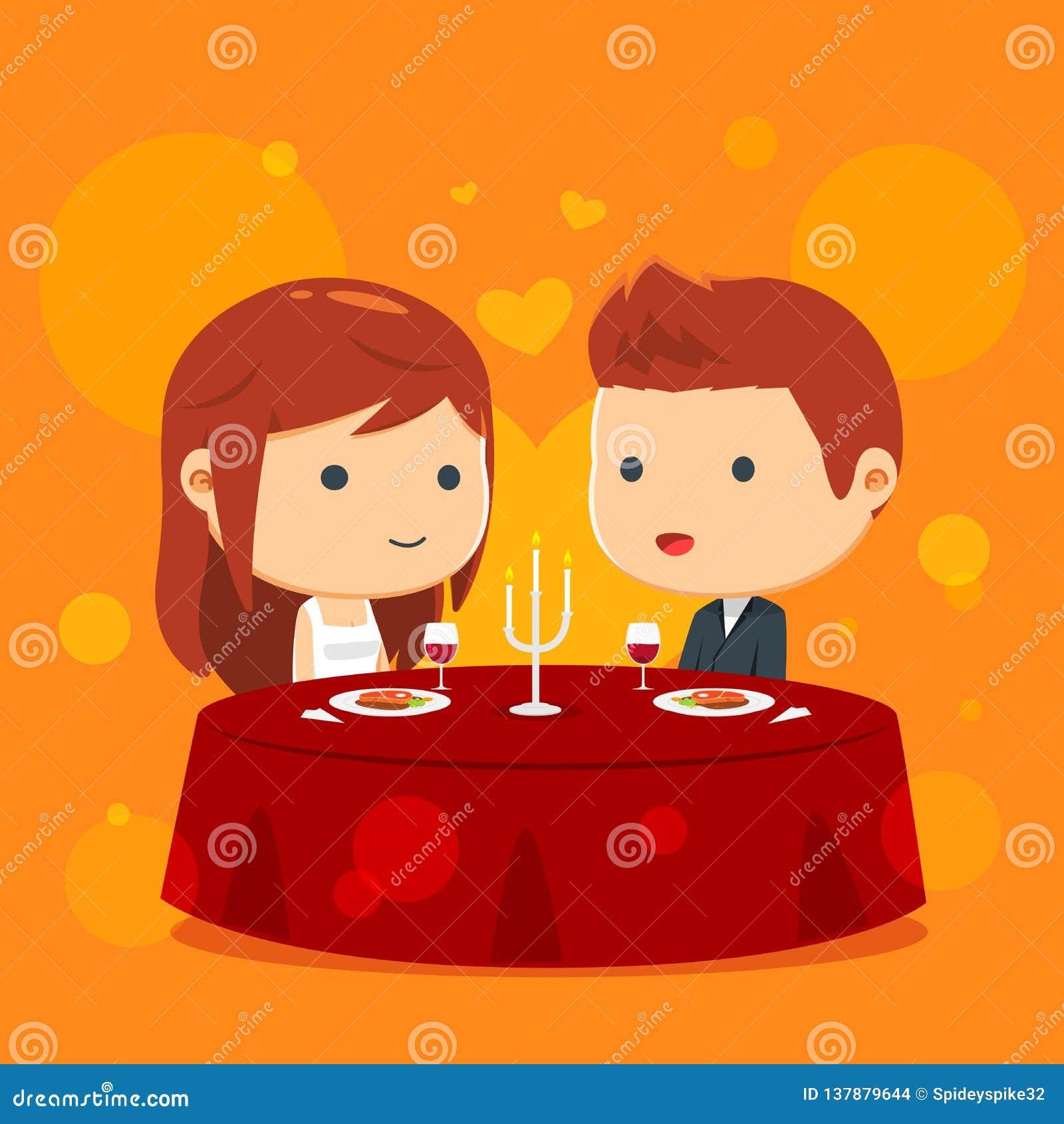 Una coppia sta cenando insieme