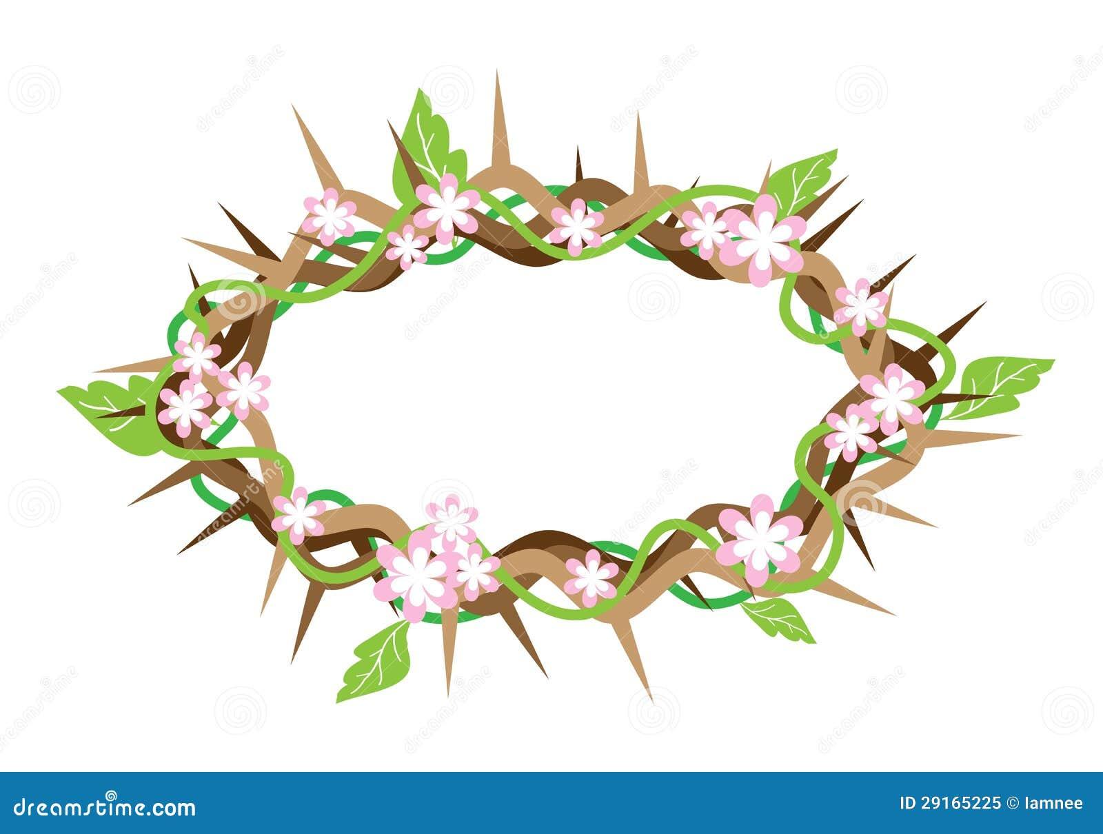 Una Corona De Espinas Con Las Hojas Frescas