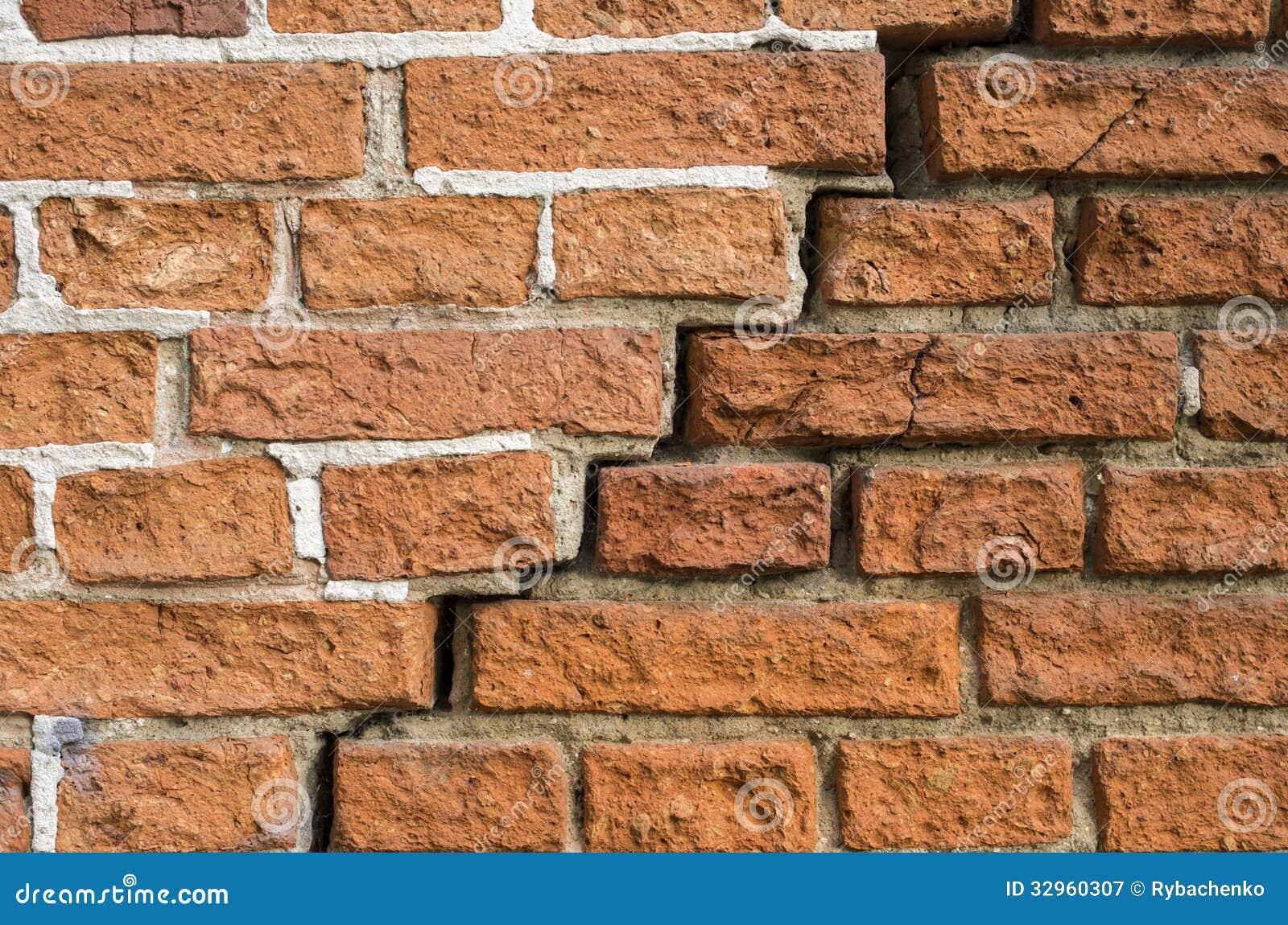 Una crepa in un muro di mattoni