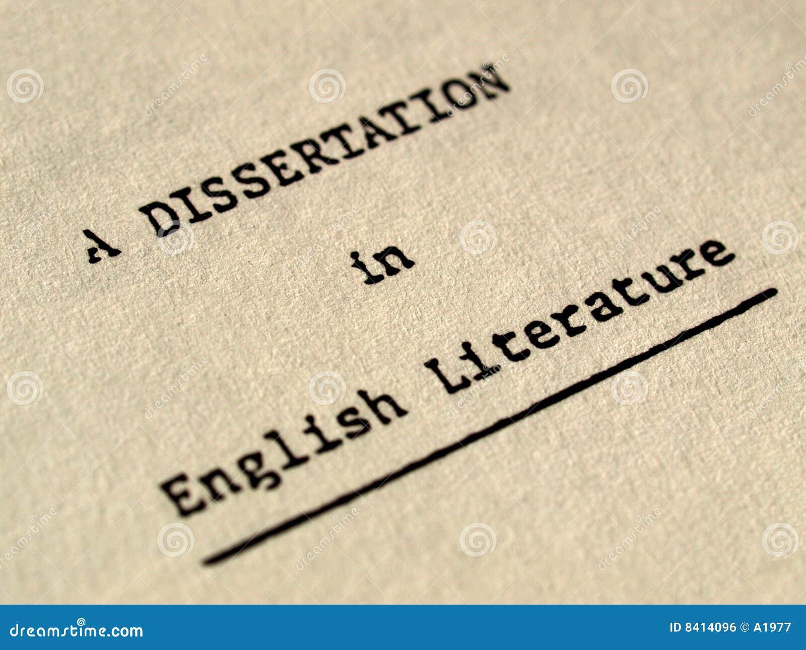 Una disertación en literatura inglesa