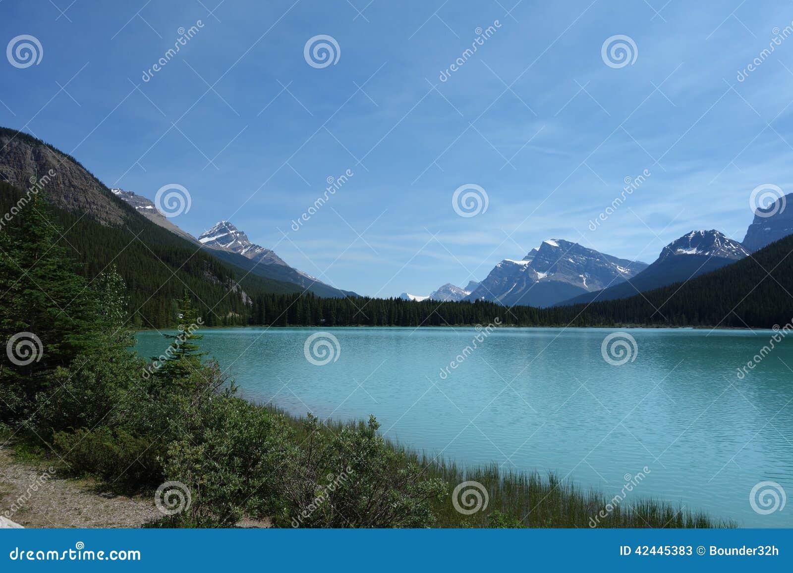 Una escena hermosa del parque nacional de banff