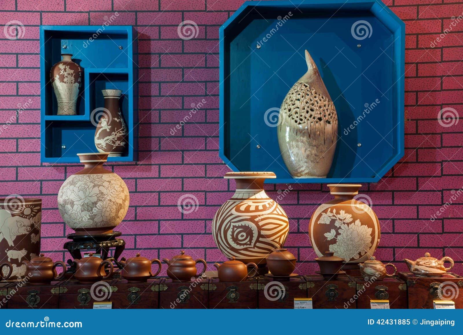 Una exposición del museo de la cerámica de la cerámica de Rongchang Chongqing Rongchang