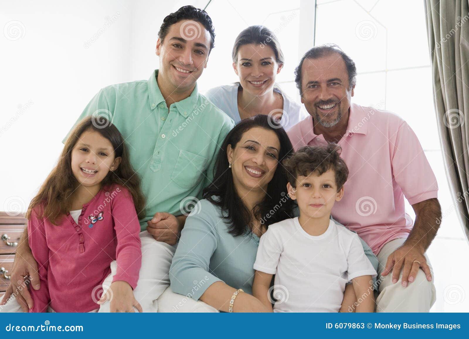 Una familia de Oriente Medio