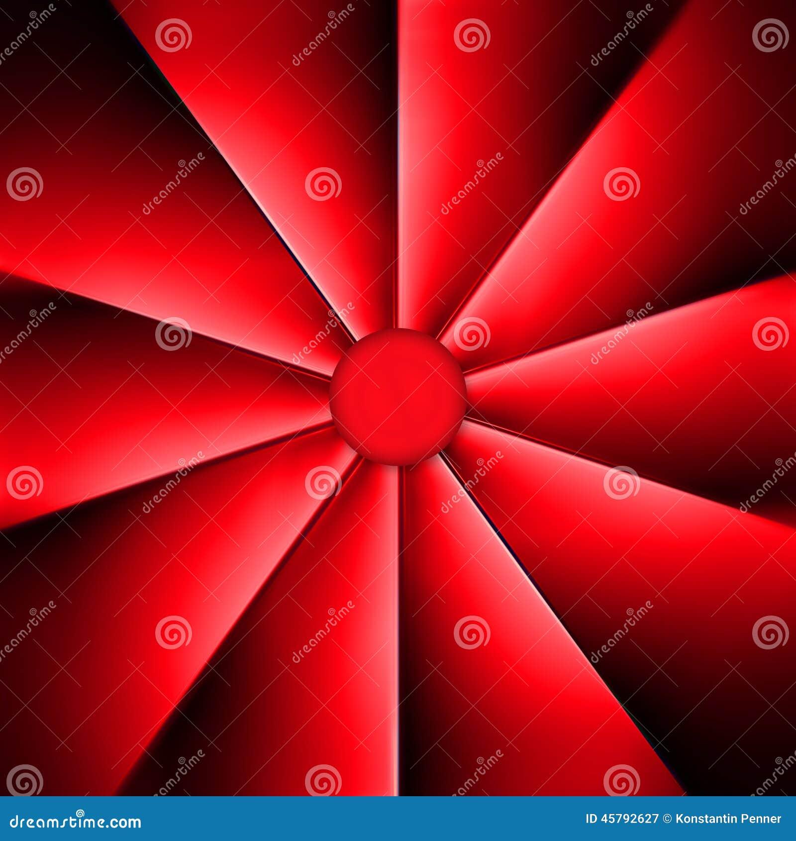 Una fan roja en un fondo oscuro