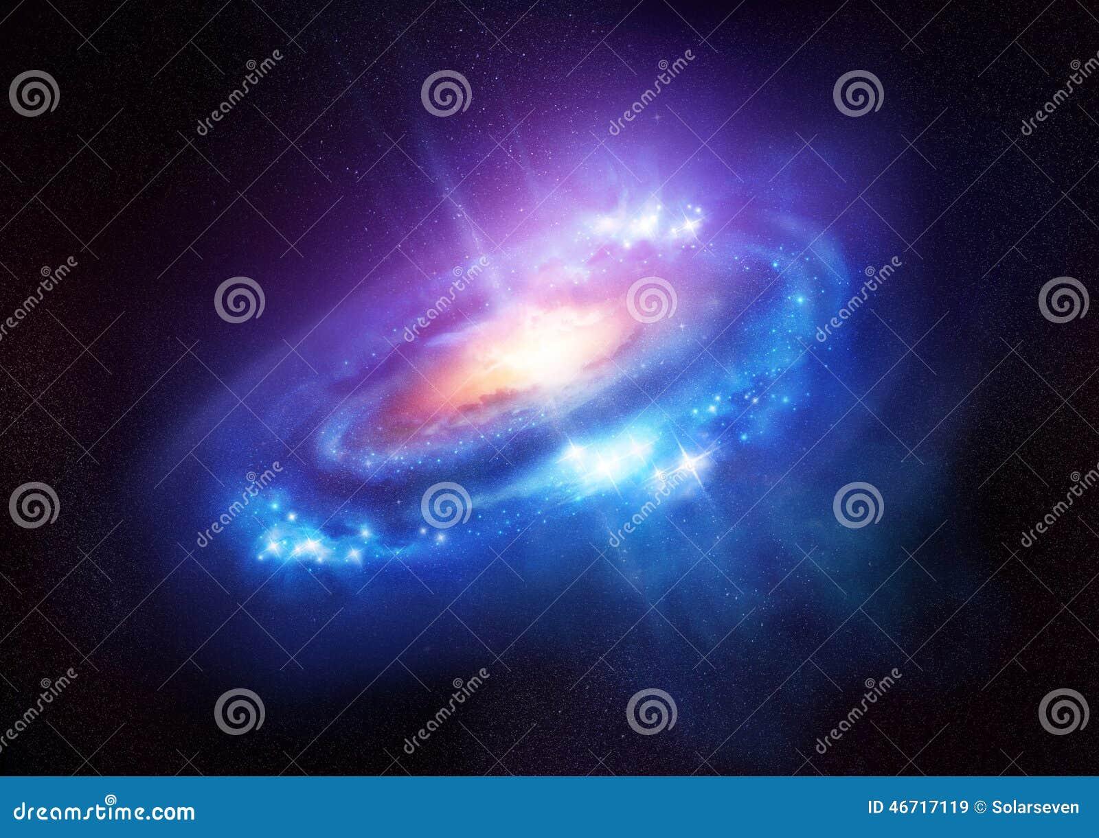 Una galaxia espiral colorida en espacio profundo