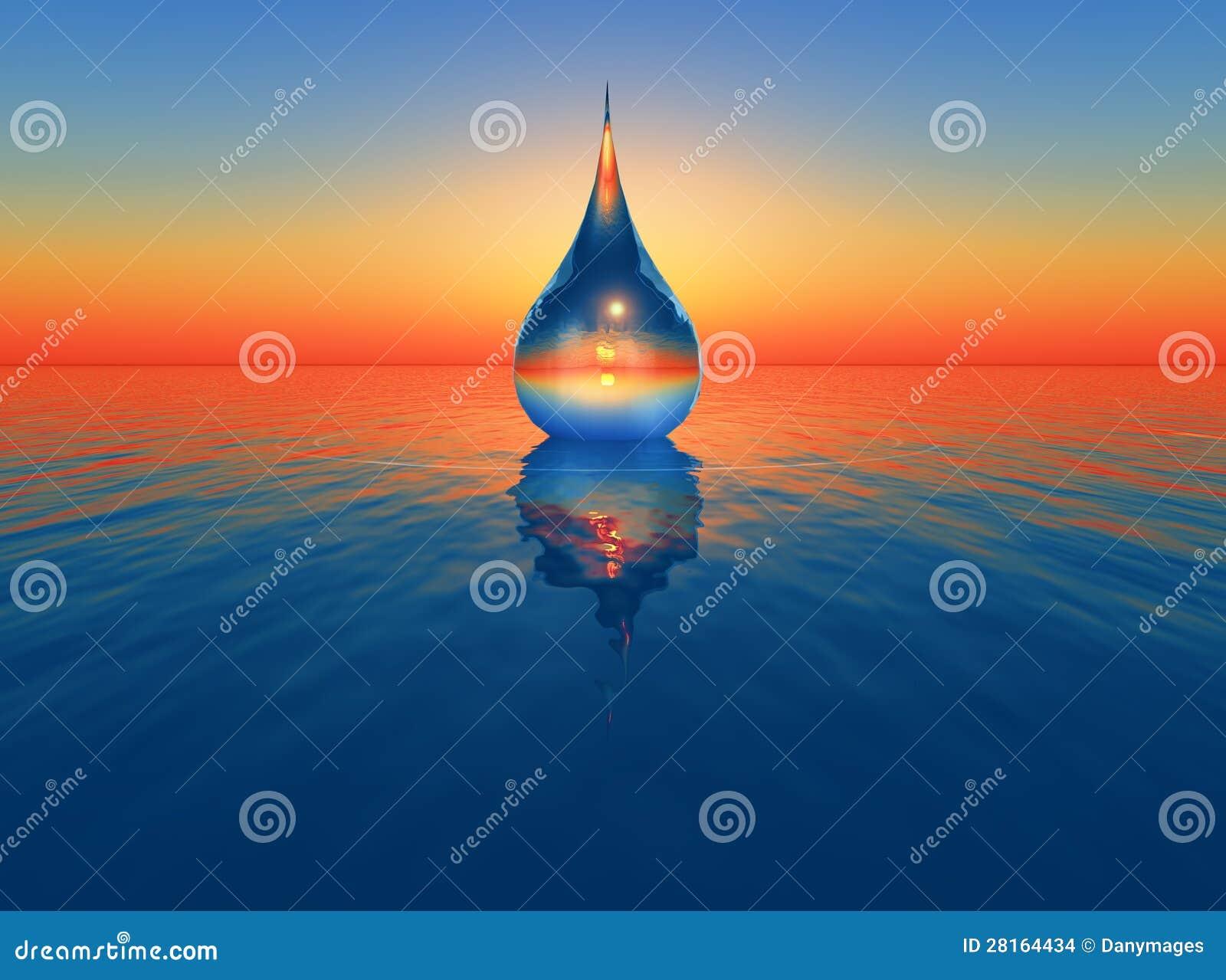 Una goccia di acqua
