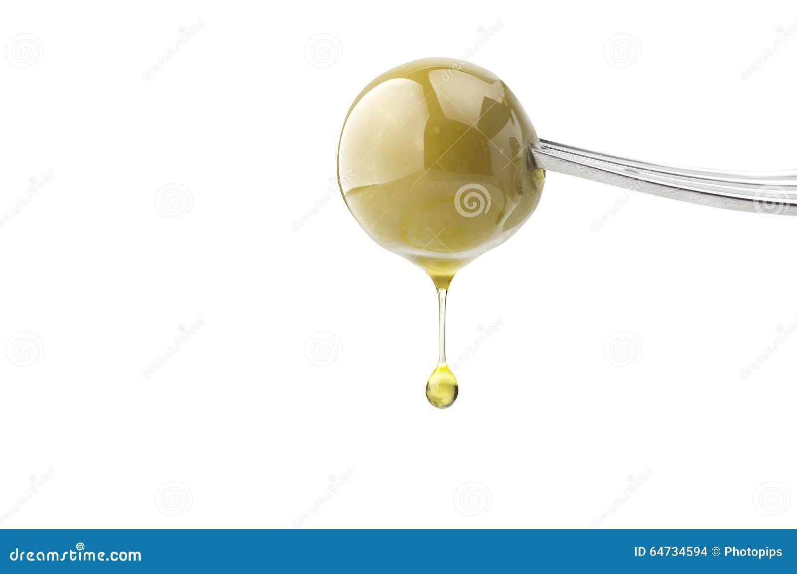 Una goccia di olio d oliva