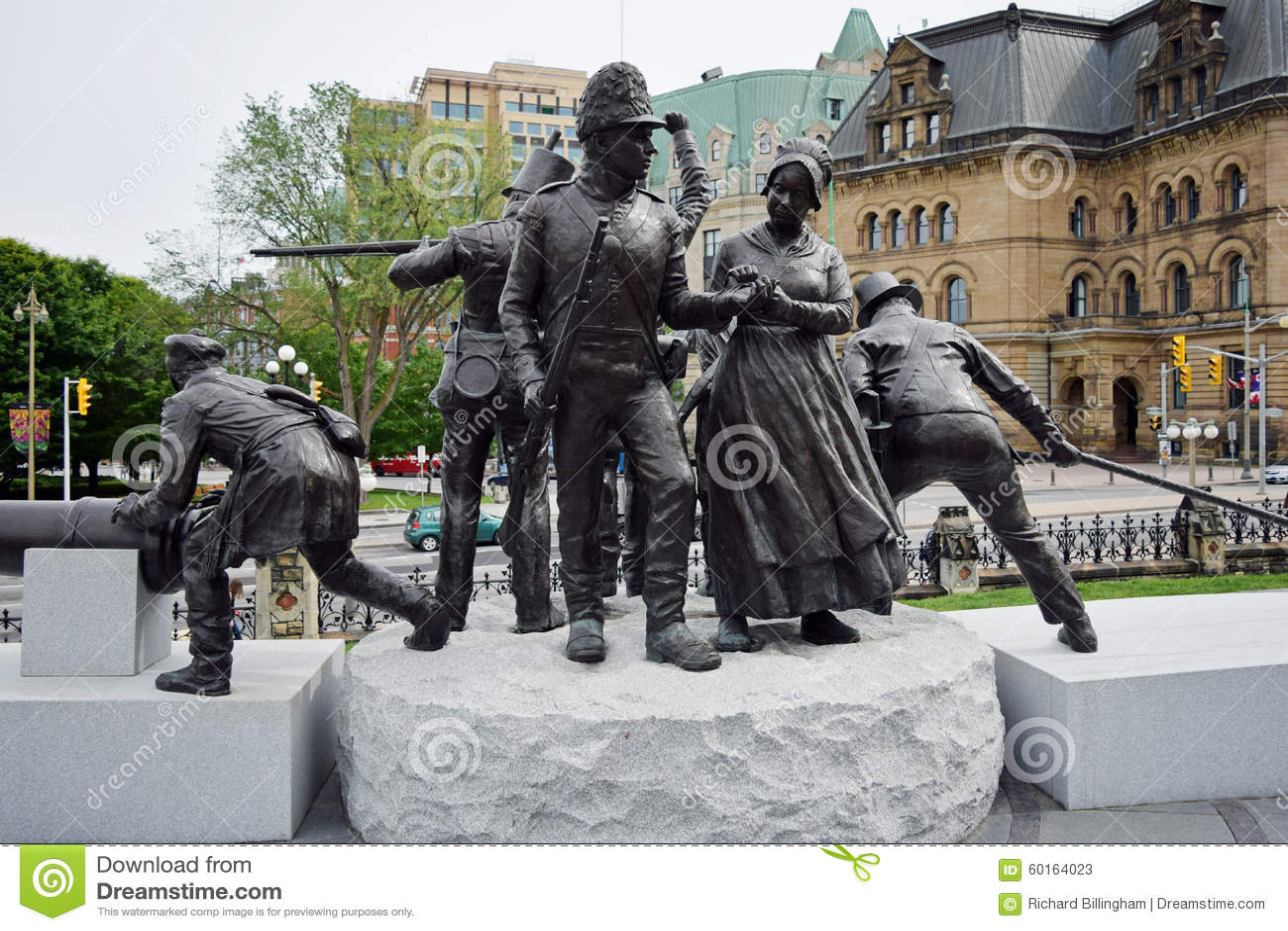 Una guerra del monumento 1812, Ottawa, Ontario, Canada