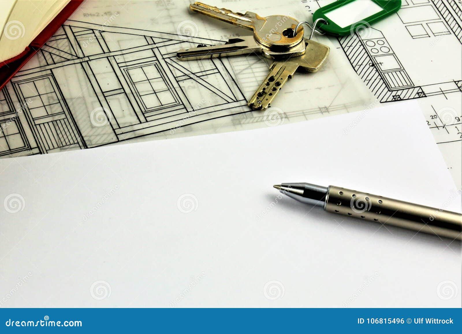 Una imagen del concepto de un acuerdo de la casa - mofa para arriba
