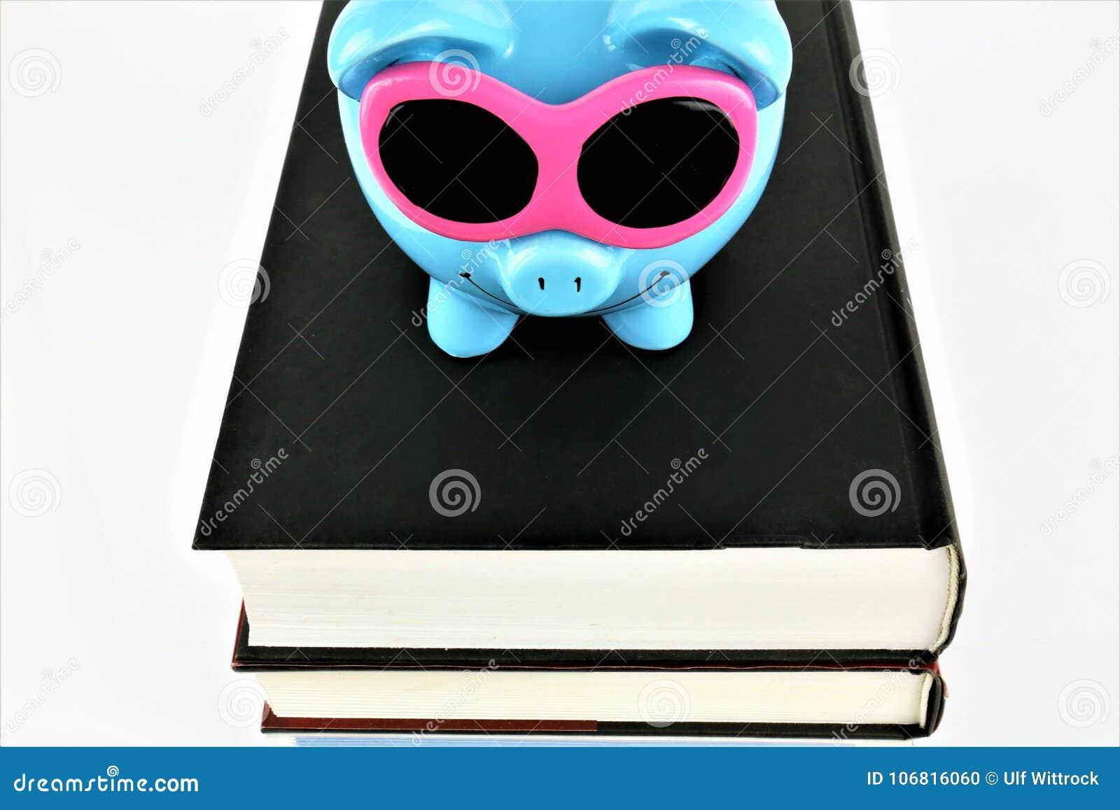 Una imagen del concepto de un guarro con los libros