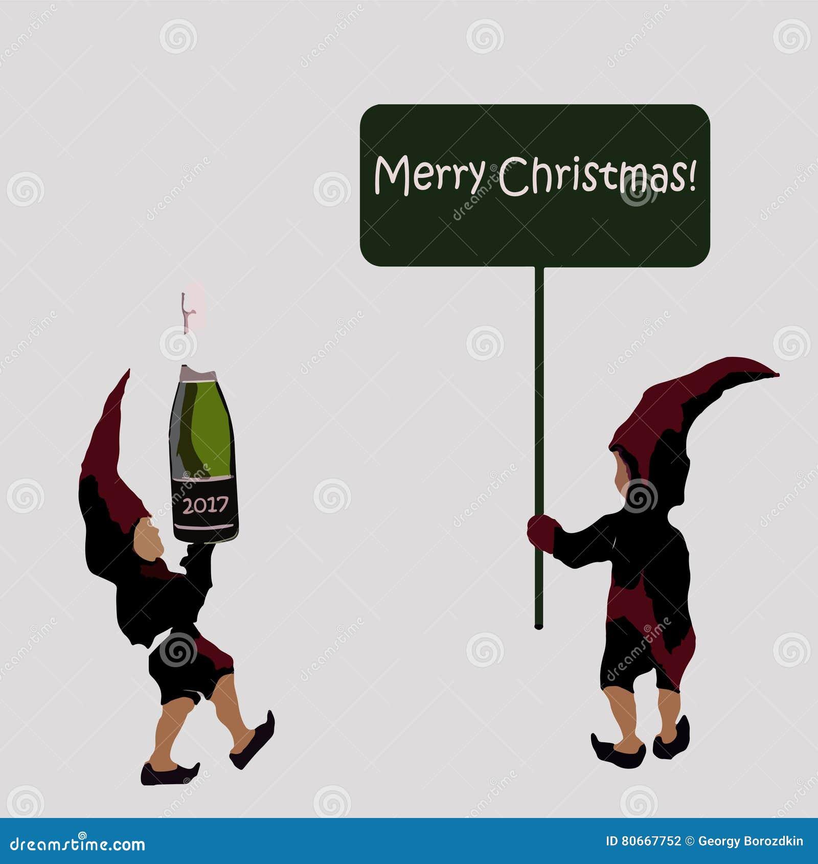 Una Invitación A Una Fiesta De Navidad Los Duendes De Santa Claus ...