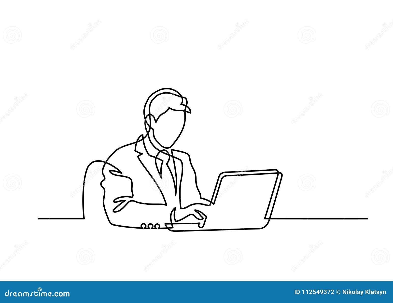 Una línea ordenador portátil