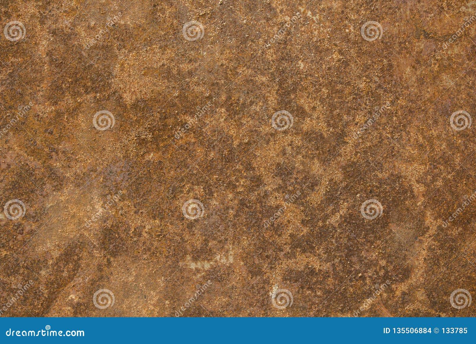 Una lamiera sottile arrugginita arancio marrone Struttura della superficie ruvida