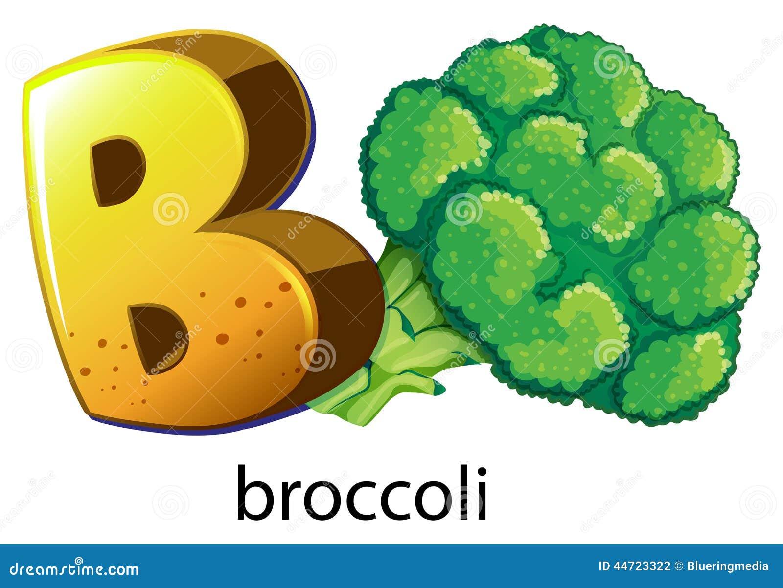Una letra b para el brocolli ilustraci n del vector for Cosas del bano con b