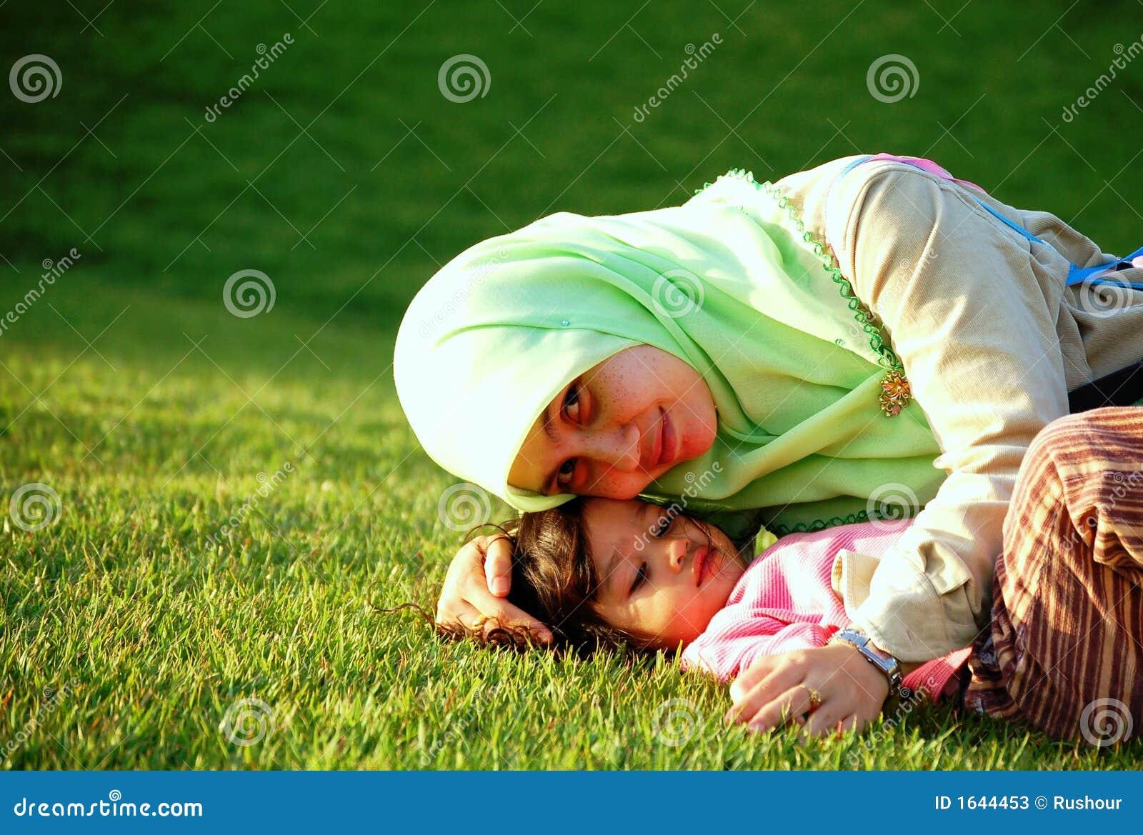 Una madre y una hija musulmanes