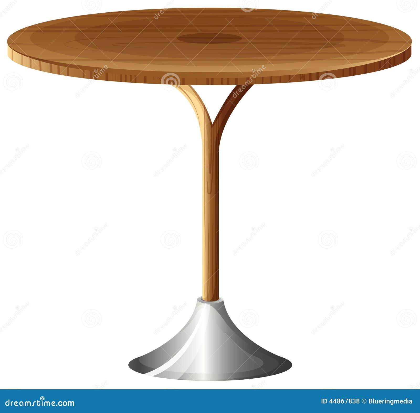 una mesa redonda de madera ilustracin del vector