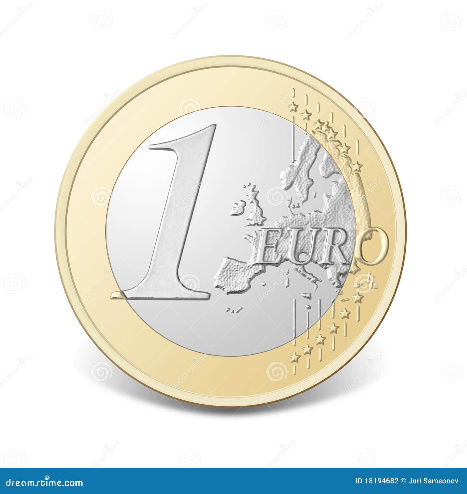 Una moneda euro.