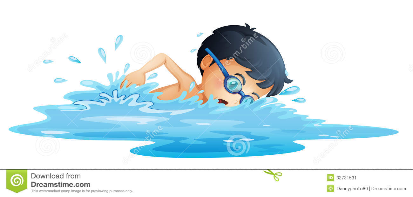 Una natación del niño
