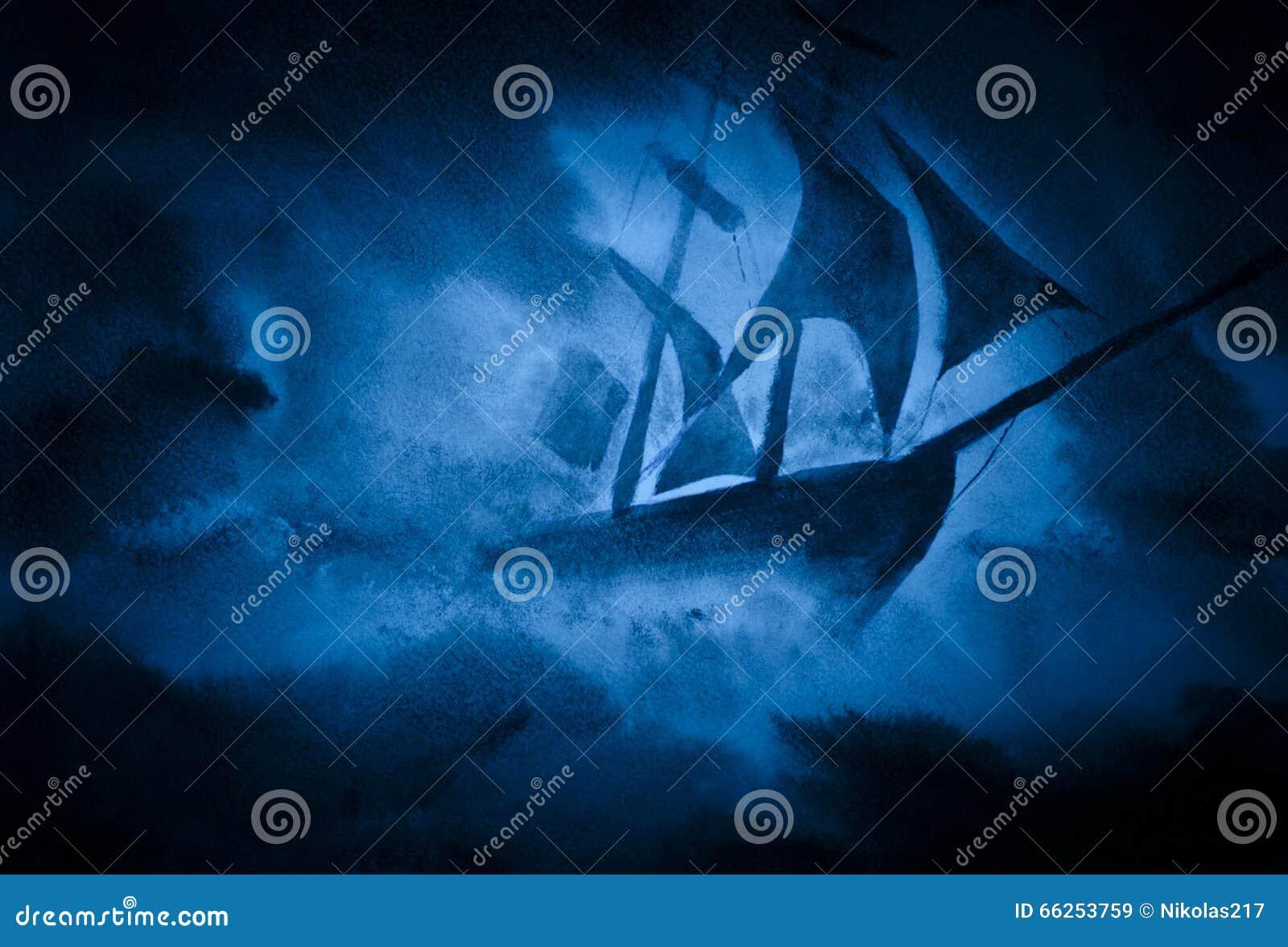 Una nave in una tempesta