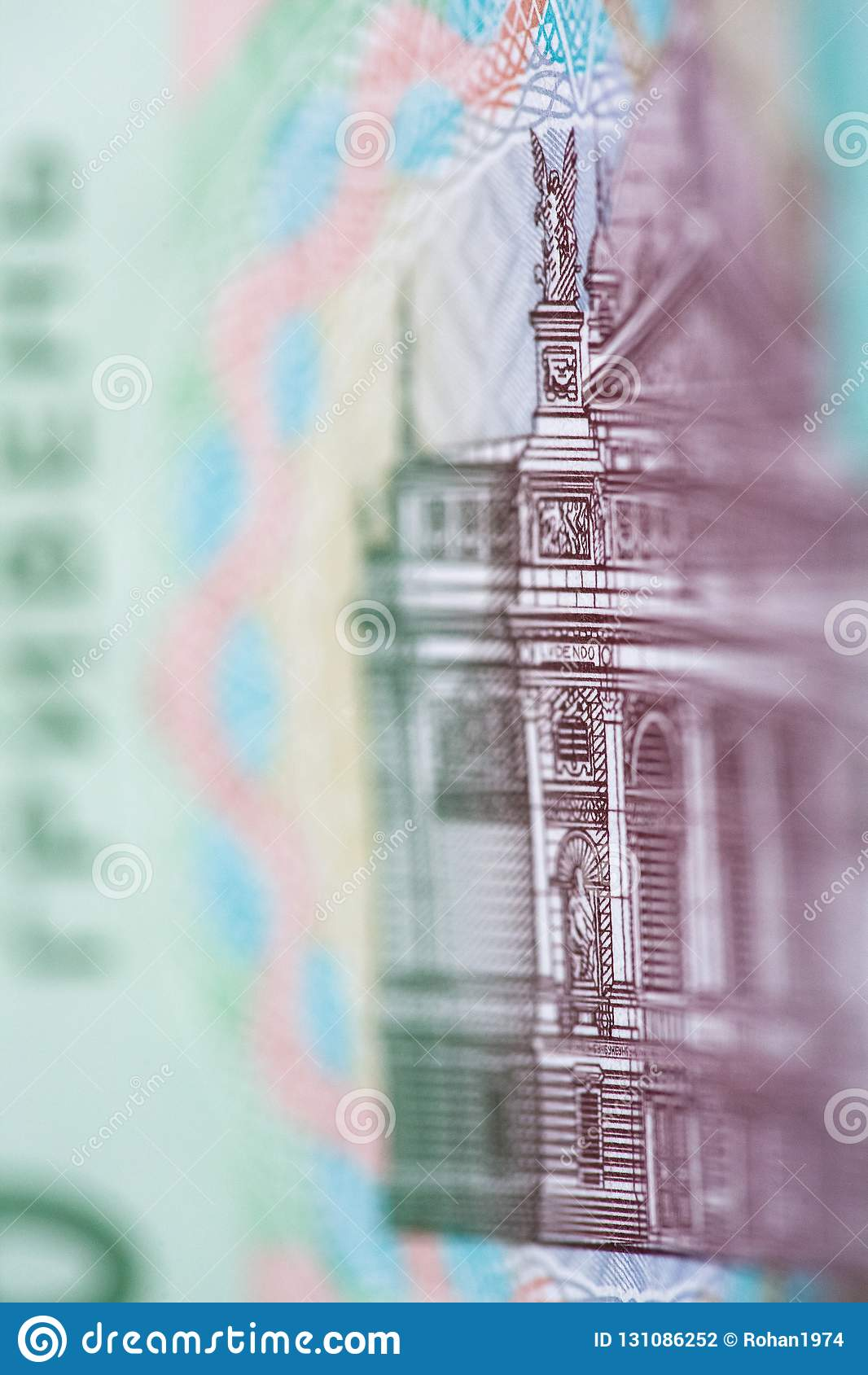 Una nuova denominazione della banconota di 20 UAH Fine ucraina dei soldi su