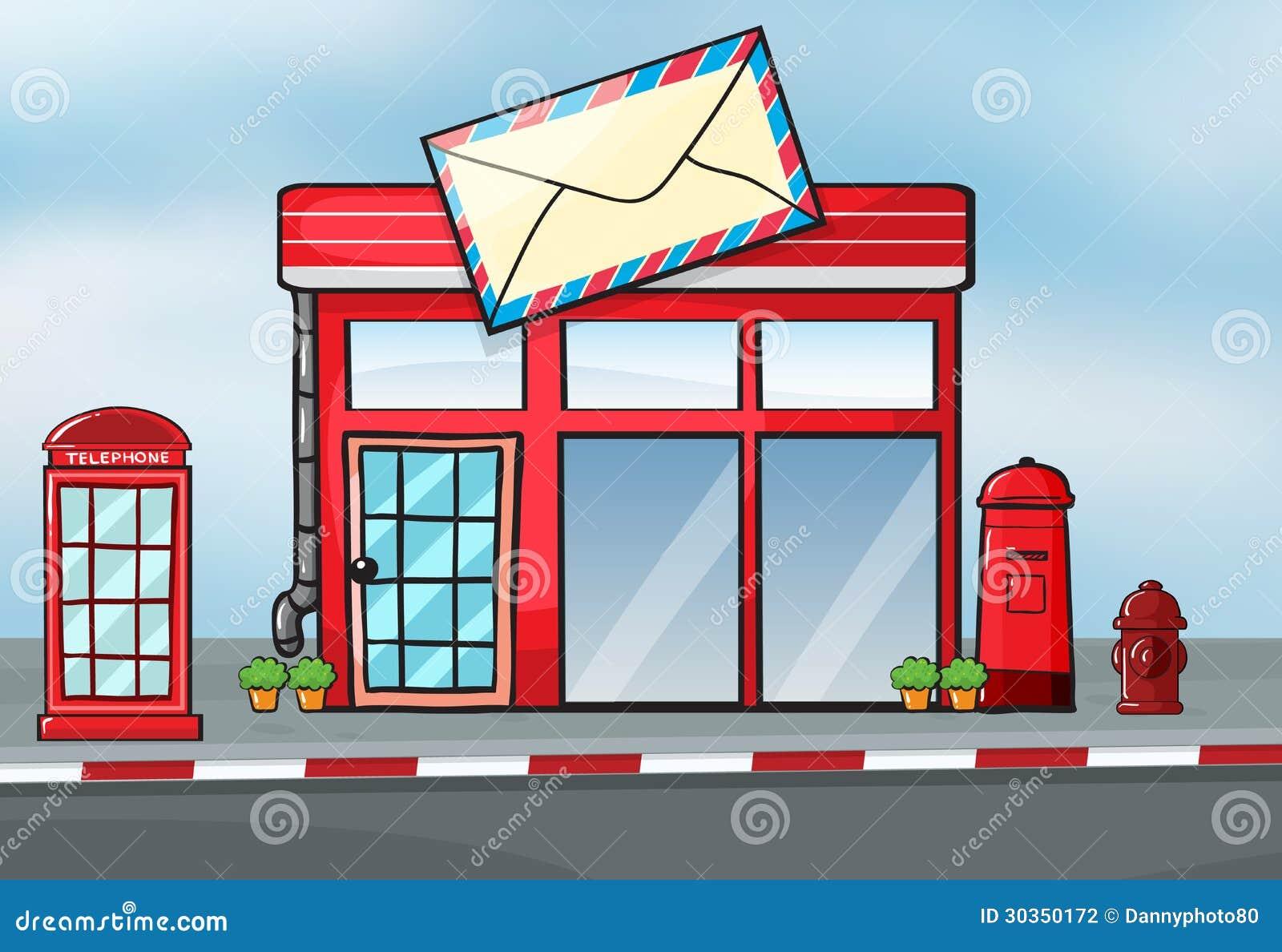 Una oficina de correos ilustraci n del vector imagen de for Oficina correos mostoles
