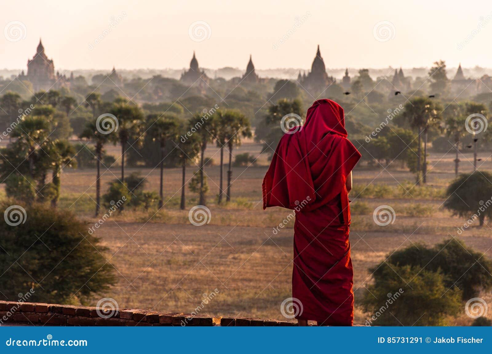 Una opinión del ` s del monje sobre Bagan