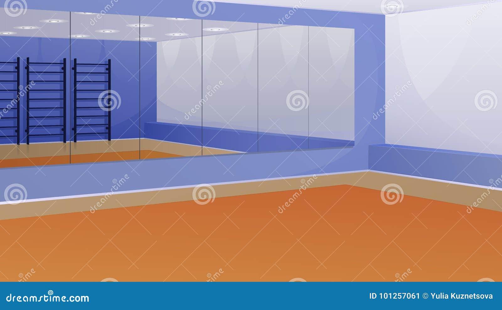 Specchi Per Palestra On Line una palestra vuota con gli specchi sulla parete e sulla