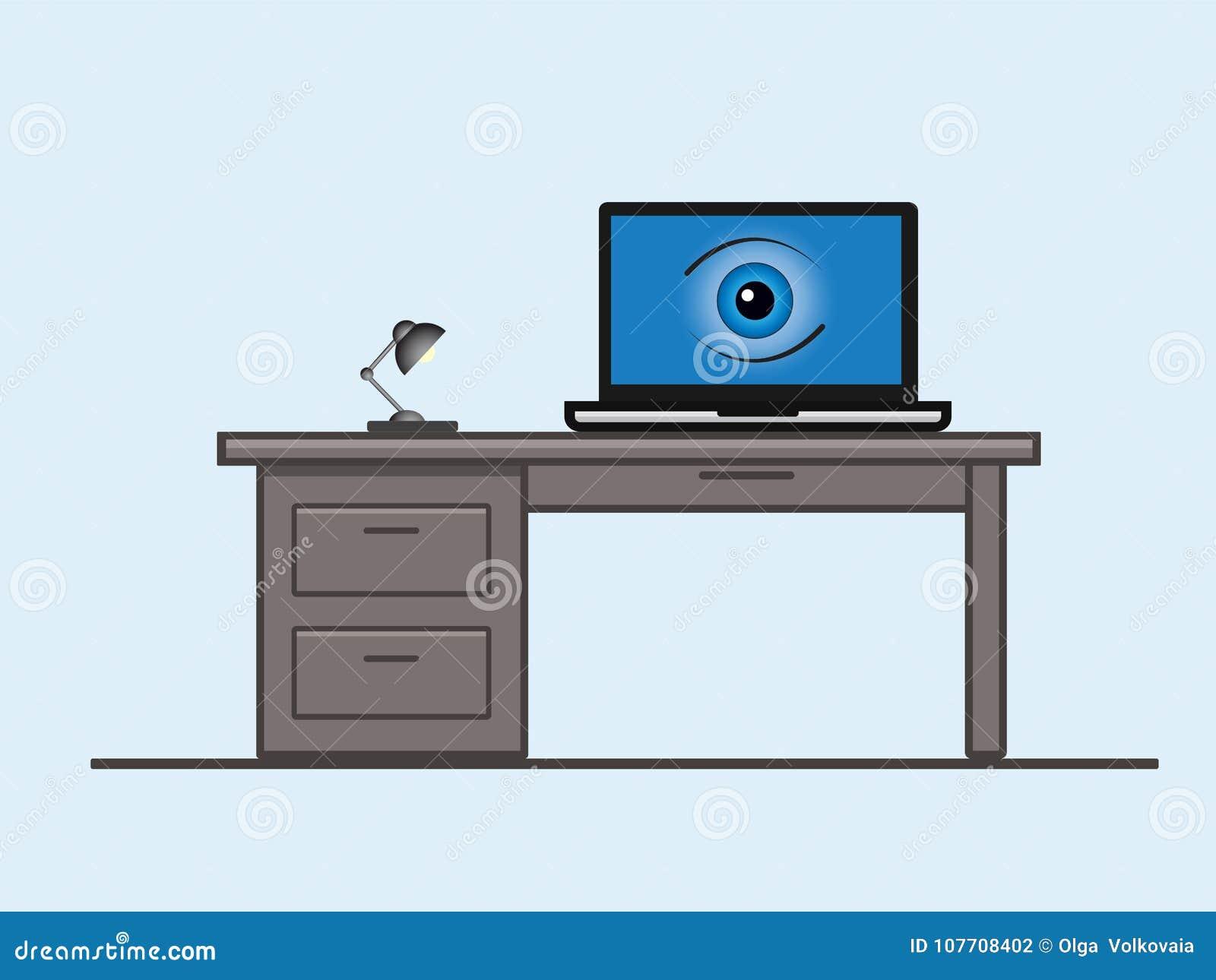 Una pantalla del ordenador portátil con un ojo