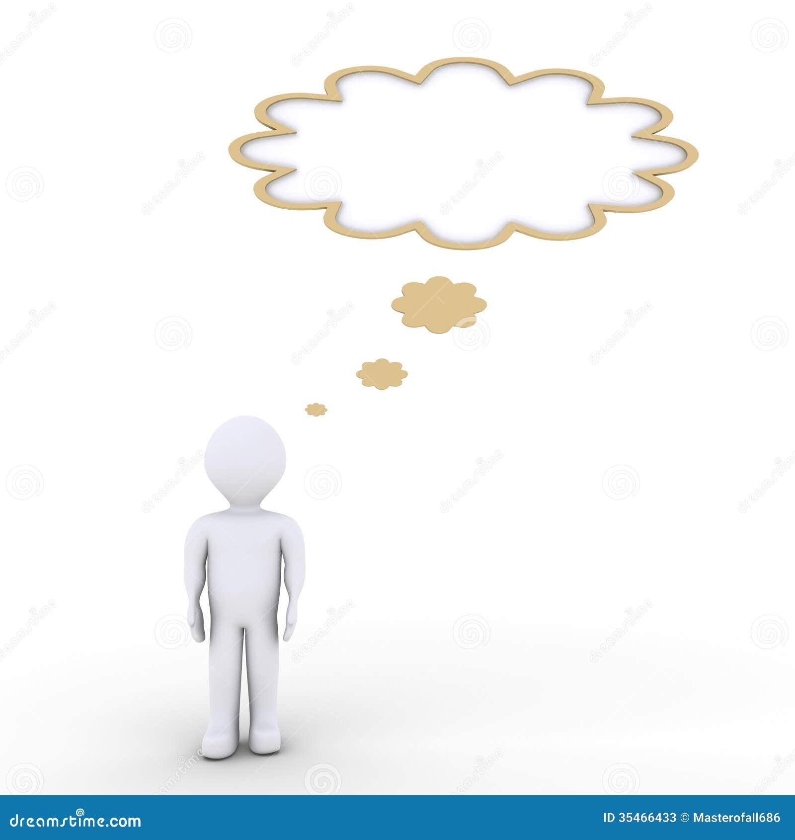 una persona est pensando y una burbuja del discurso stock de ilustraci n imagen 35466433. Black Bedroom Furniture Sets. Home Design Ideas