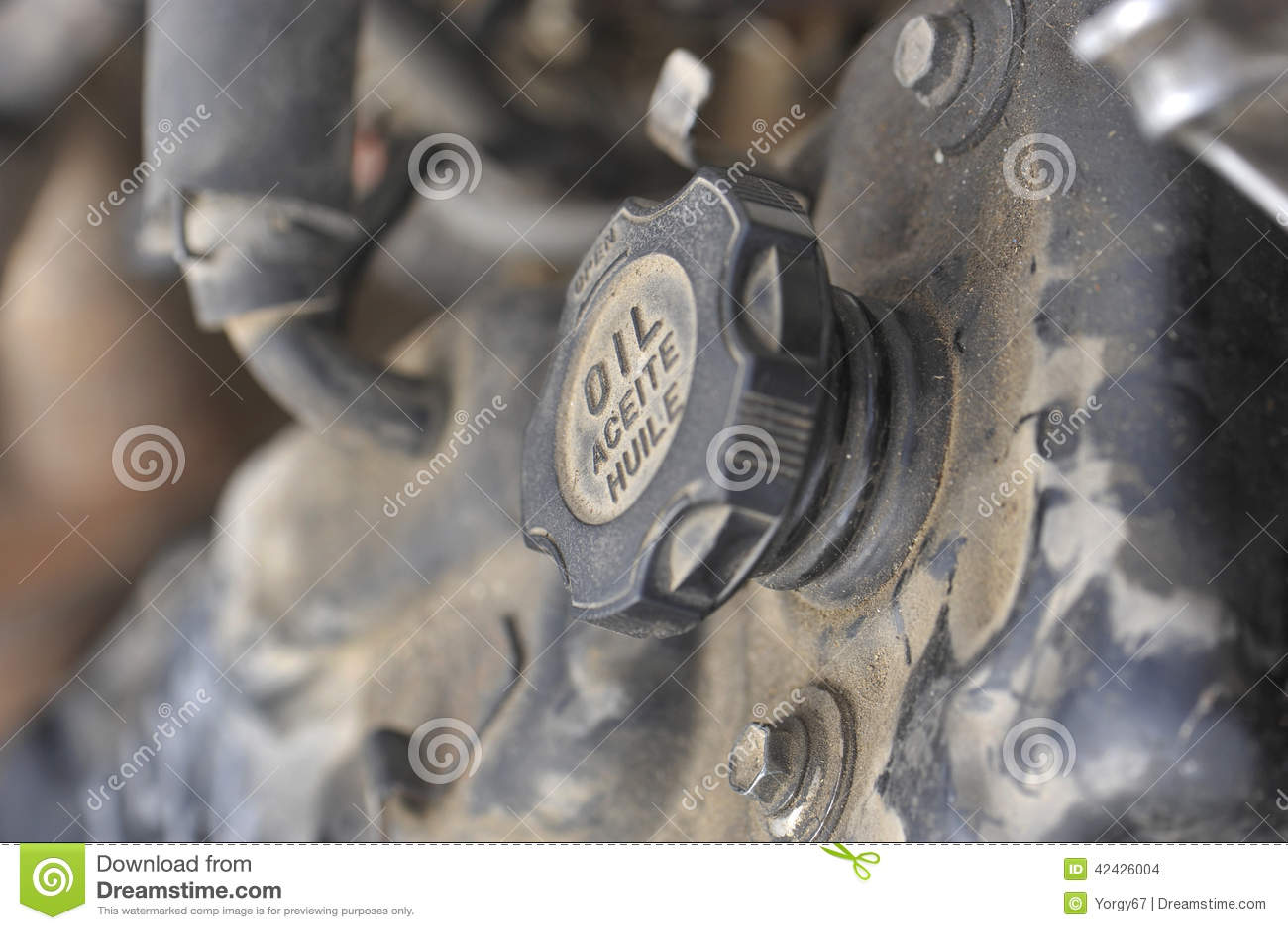 Una pieza del motor de coche