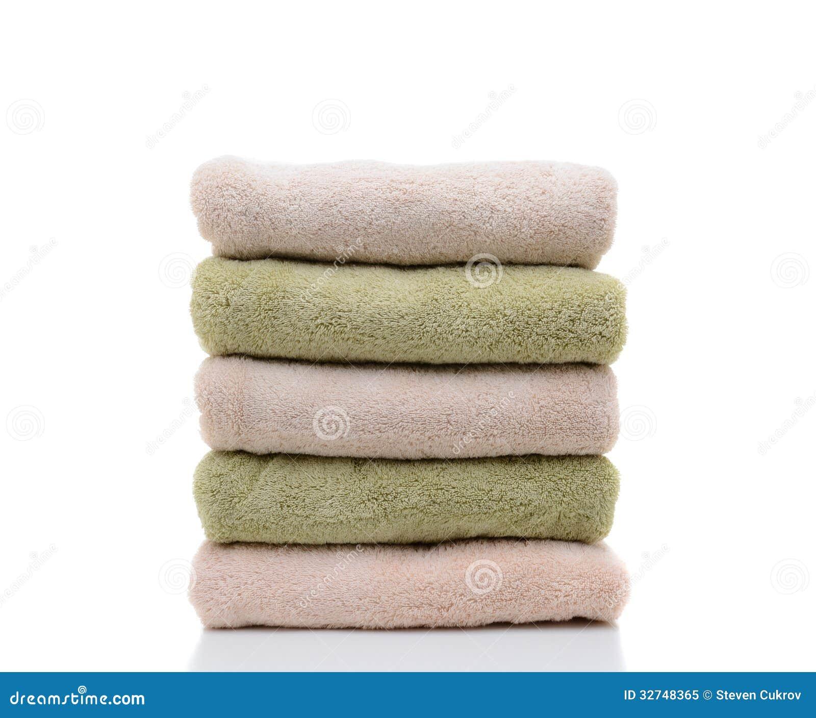 Una pila de toallas de ba o dobladas foto de archivo libre de regal as imagen 32748365 - Toallas para bano ...