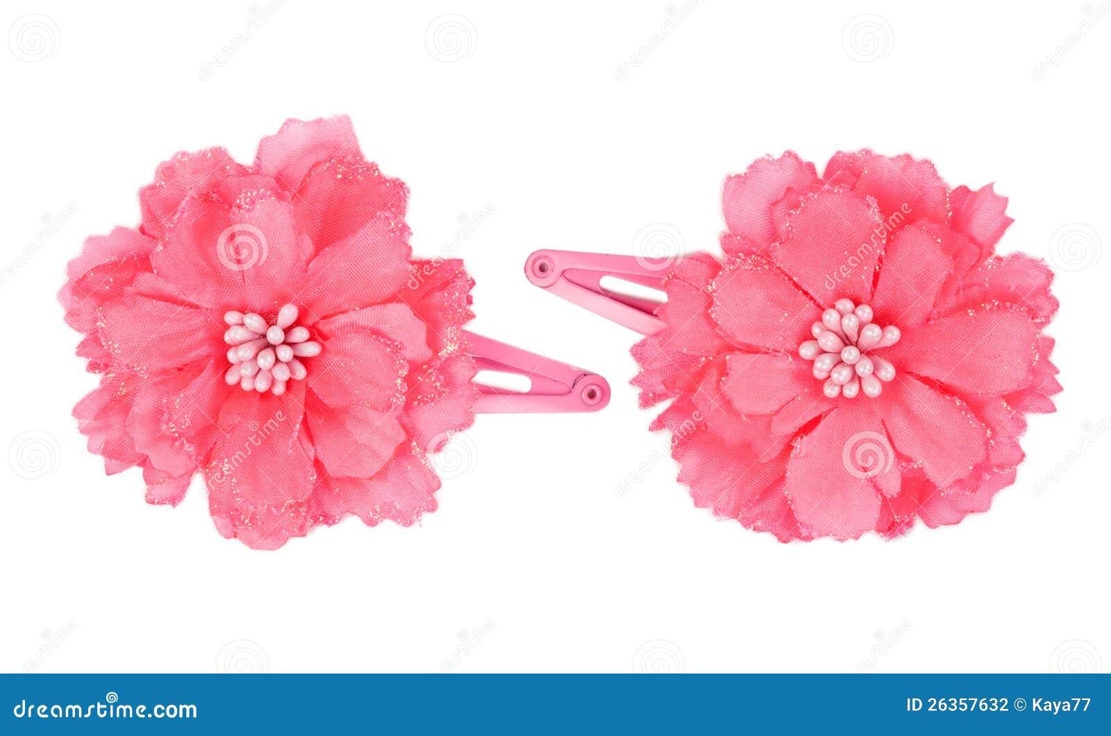 Una pinza de pelo de la flor