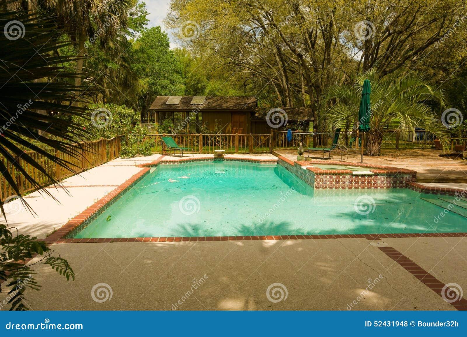Una piscina del patio trasero en la Florida
