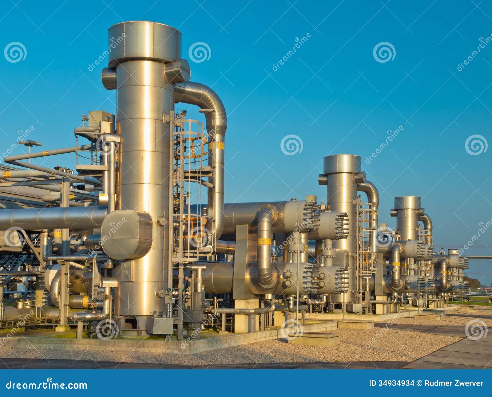 Una planta de tratamiento moderna del gas natural imagenes for Imagenes de gas natural