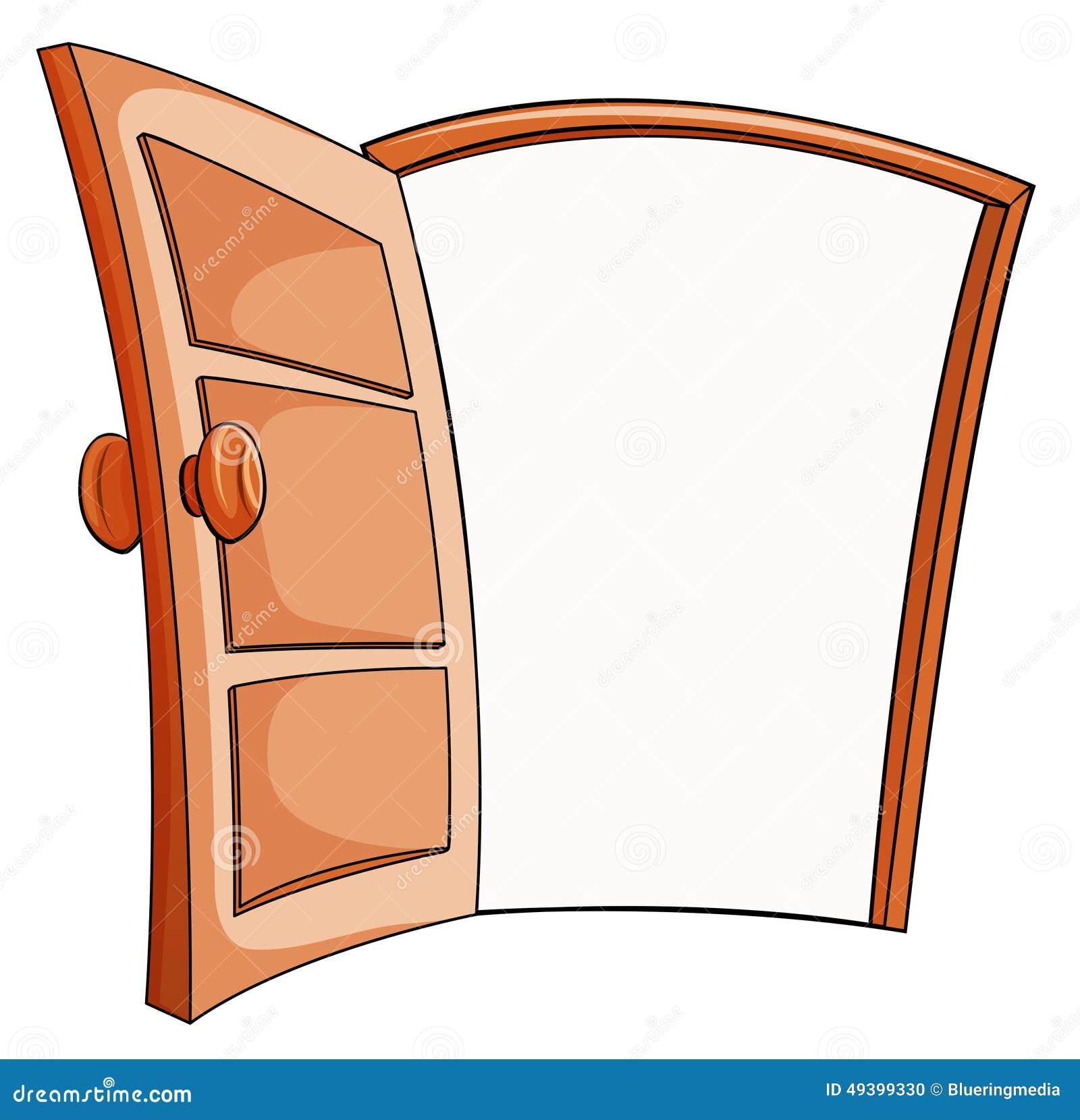 Una Porta Aperta Illustrazione Vettoriale Illustrazione