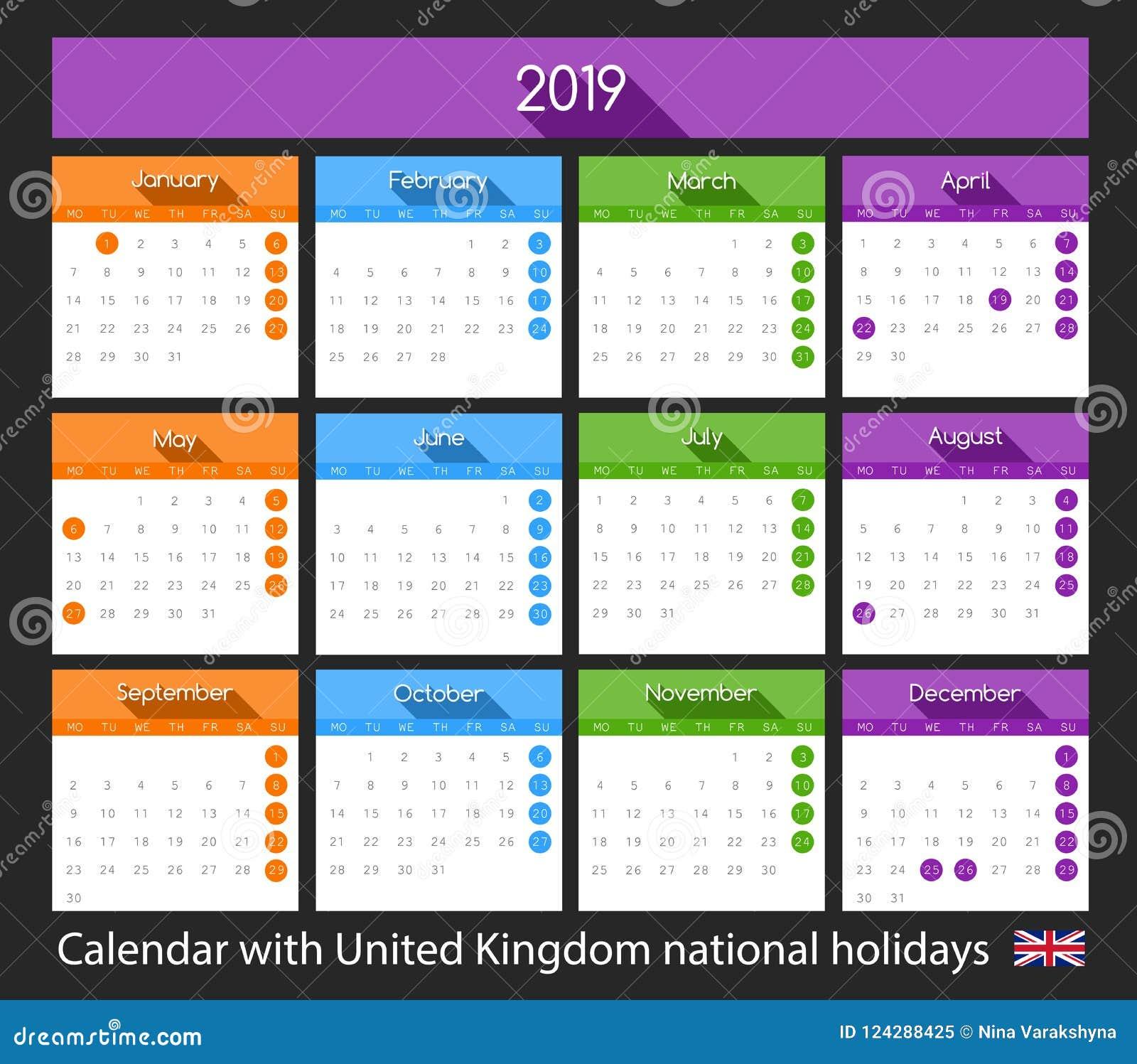 Calendario Nazionali.Una Progettazione Piana Di 2019 Calendari Con Le Feste