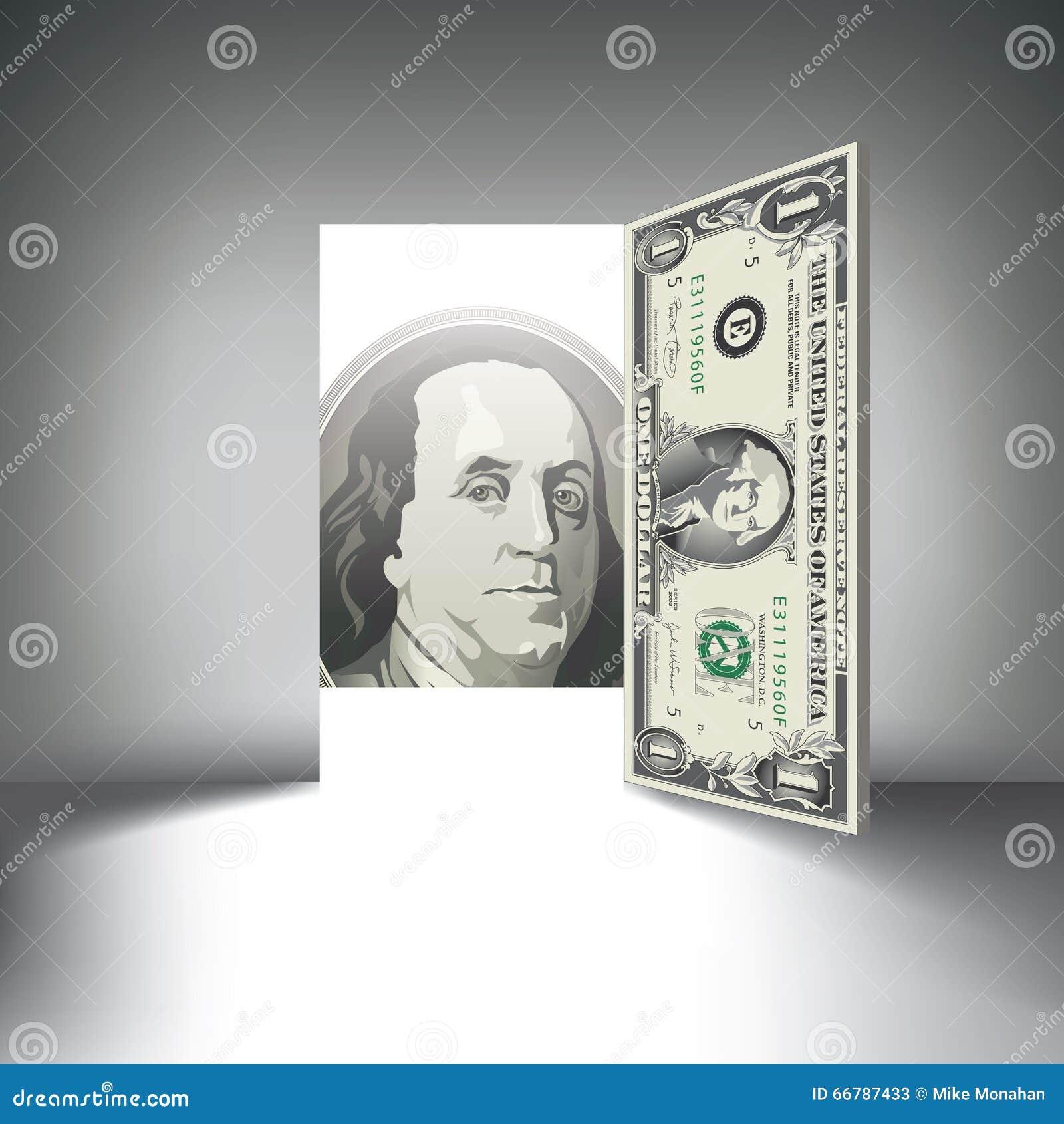 Una puerta del billete de dólar le tienta