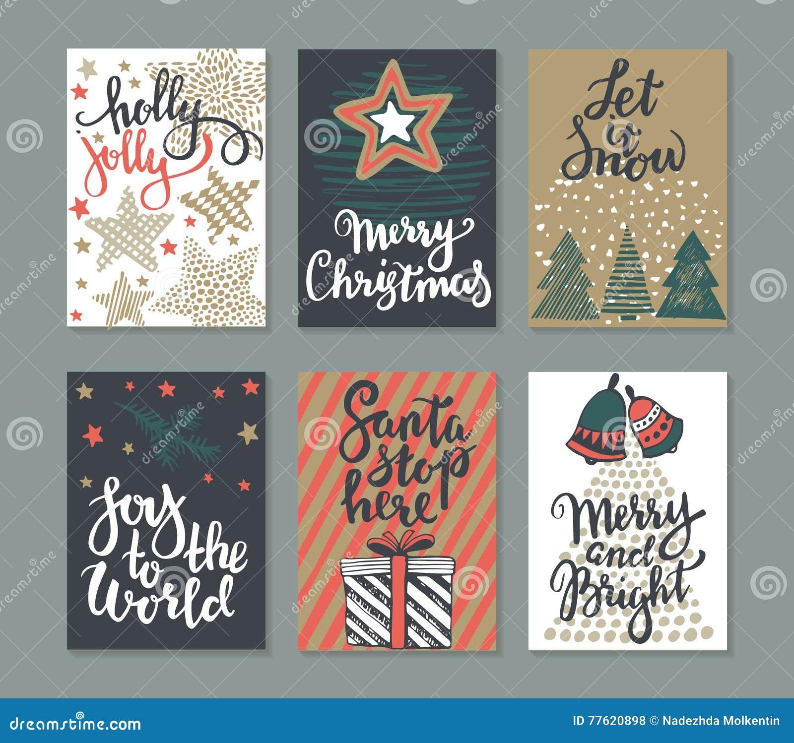 Una raccolta di sei cartoline d auguri di Natale