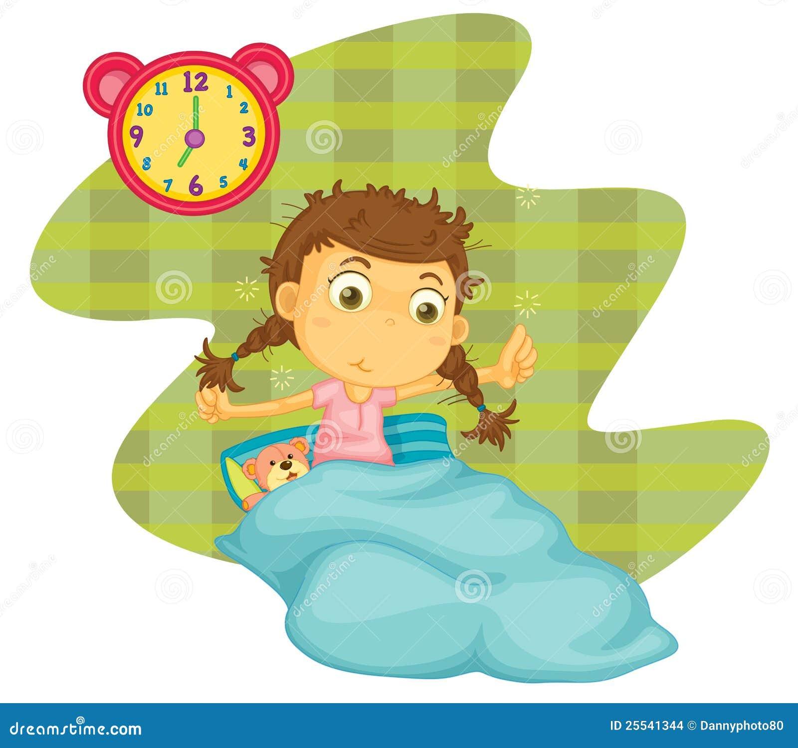 Una ragazza si sveglia illustrazione di stock immagine di - Immagine di una ragazza a colori ...