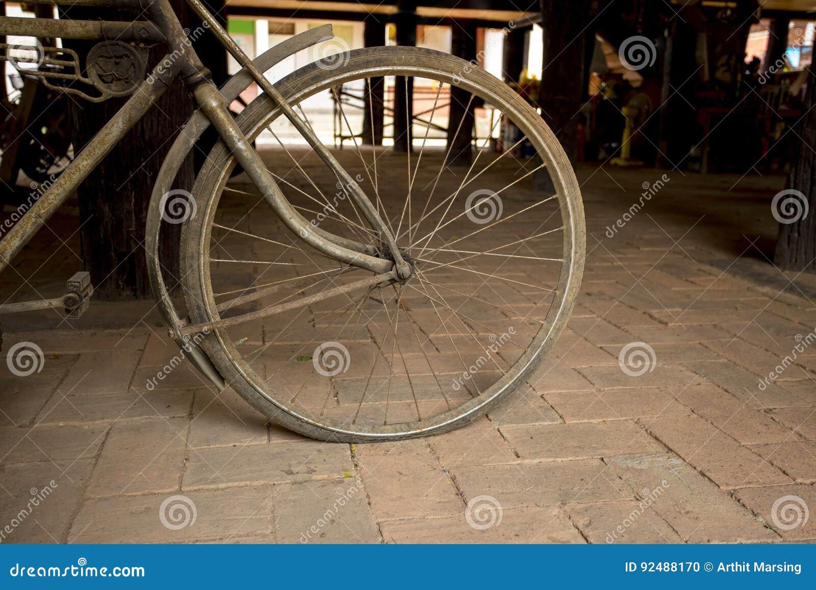 Una rueda de la bicicleta del vintage
