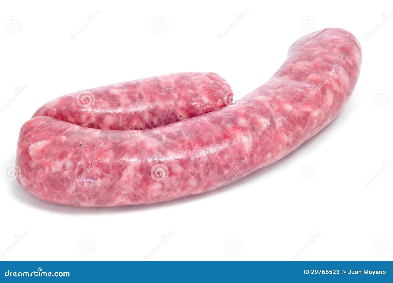 salchicha de cerdo cruda