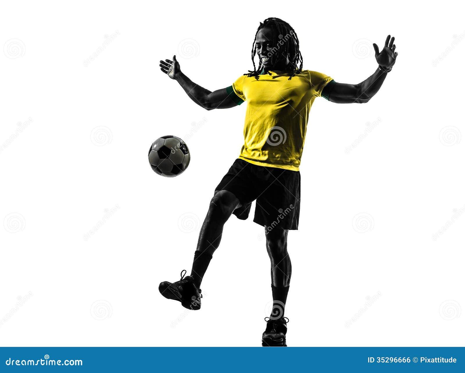 Futbolista Una Brasileña Del Fútbol Negra Hombre Silueta K3FJlcuT1