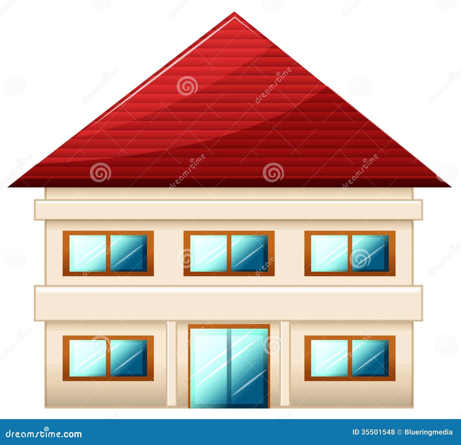 Una singola villetta a due piani illustrazione vettoriale for Software di piani di costruzione casa