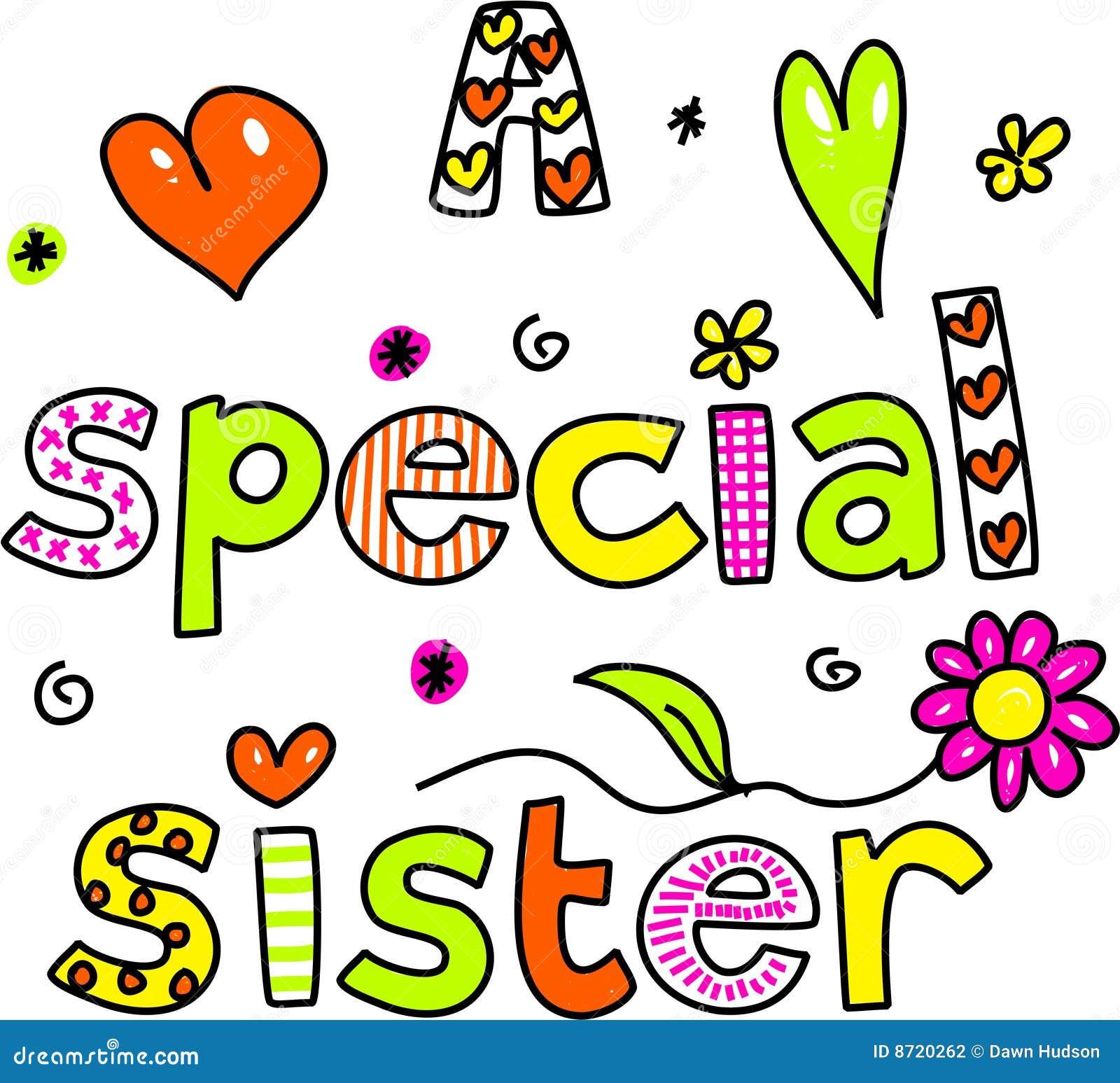 Très Una sorella speciale illustrazione di stock. Immagine di  KY66