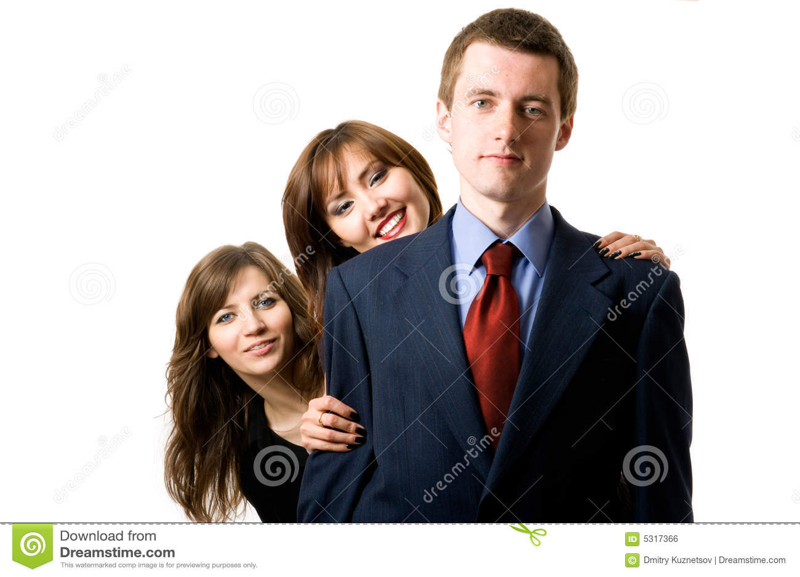 Download Una Squadra Di Tre Genti Di Affari. Fotografia Stock - Immagine di businesspeople, casuale: 5317366