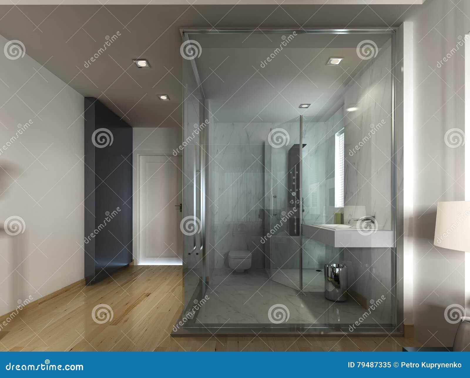 Una stanza di albergo di lusso in una progettazione contemporanea