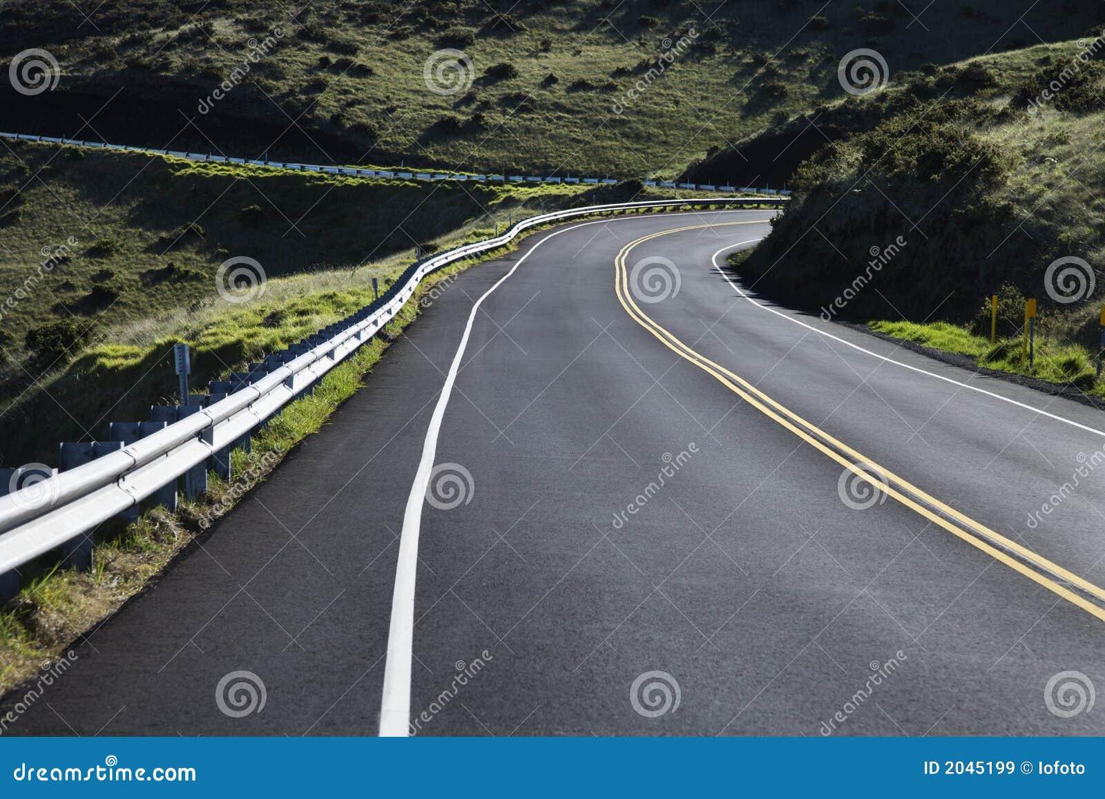 Una strada nella sosta di Haleakala.