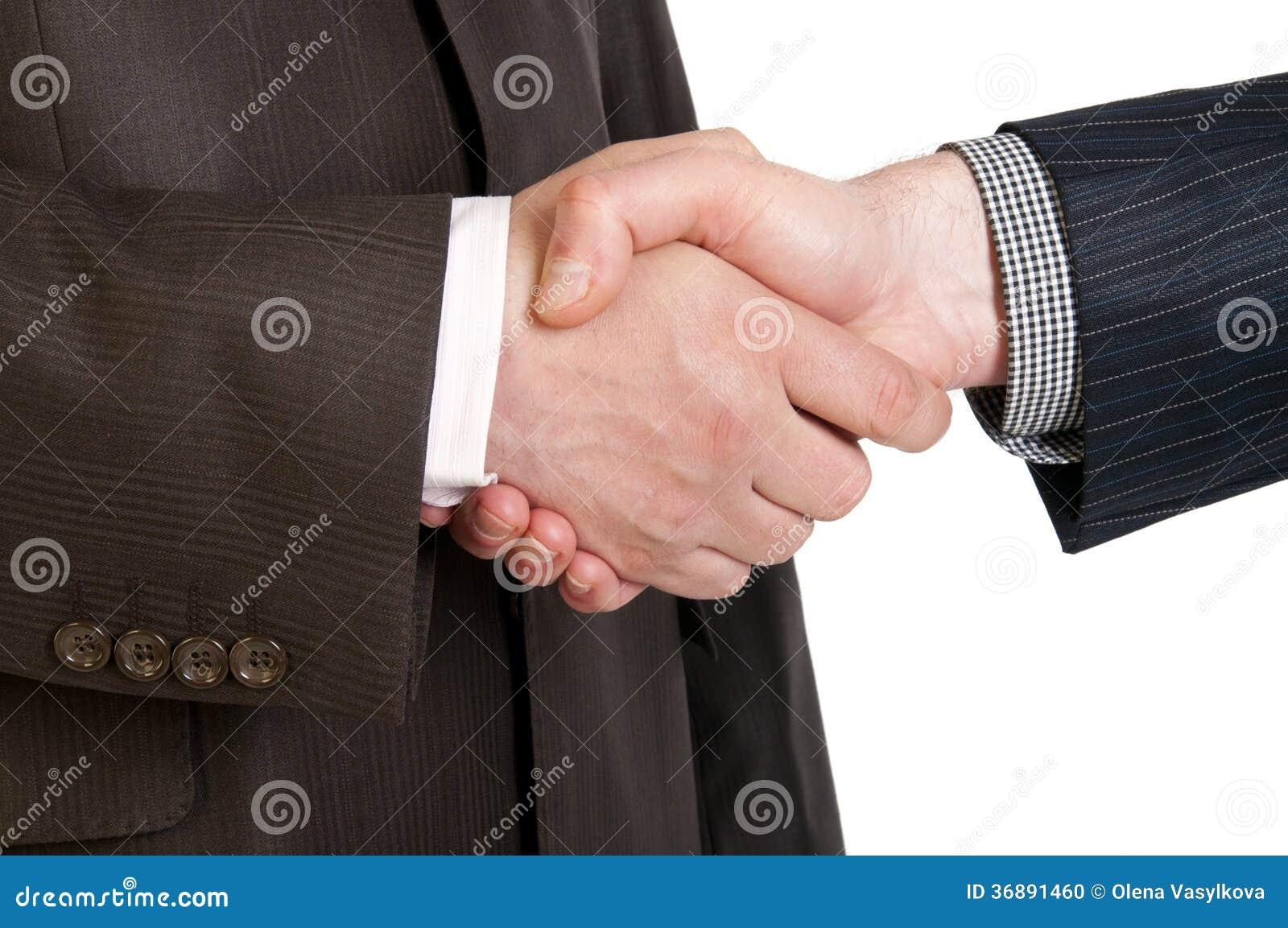 Download Una Stretta Di Mano Di Due Mani Degli Uomini D'affari Fotografia Stock - Immagine di affare, handshake: 36891460